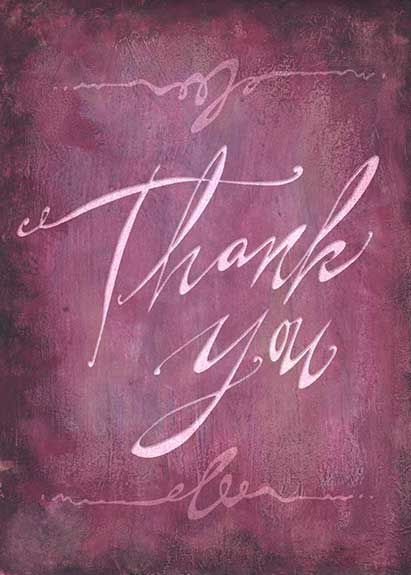 """""""Thank You"""" greeting card lettering"""