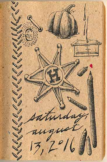 Journal Doodles: 2016-08-13