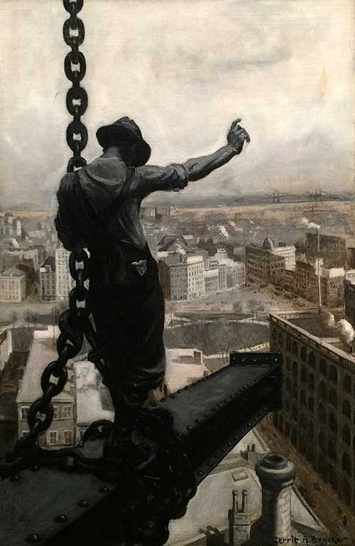 The Iron Worker by Gerrit Albertus Beneker